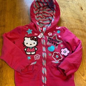 Hello Kitty zip-up hoodie size 3T